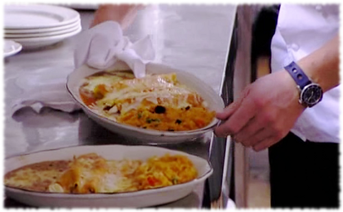 A little extra broiler soot in your fiesta rice scenes for Kitchen nightmares fake