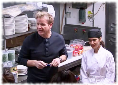 Gordon ramsay brings in julieta to keep things from for Kitchen nightmares fake